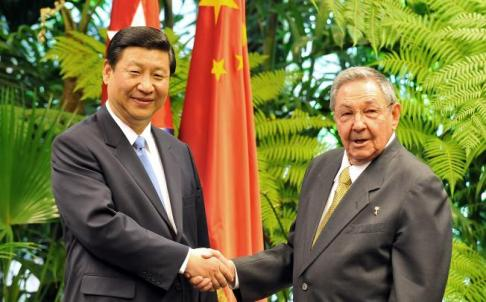 Chinese VP Xi Jinping and Raul Castro