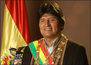 evo morales president of bolivia