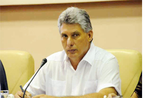 Cuban government vice-president Miguel Diaz-Canel
