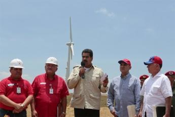 Maduro at the La Guajira wind farm