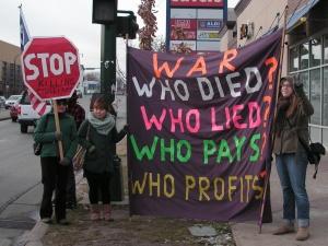 protest against afghan war
