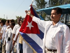 cuban doctors arrive in Brazil