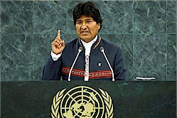 evo morales at the un