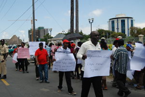 guyana protests in front of the us embassy
