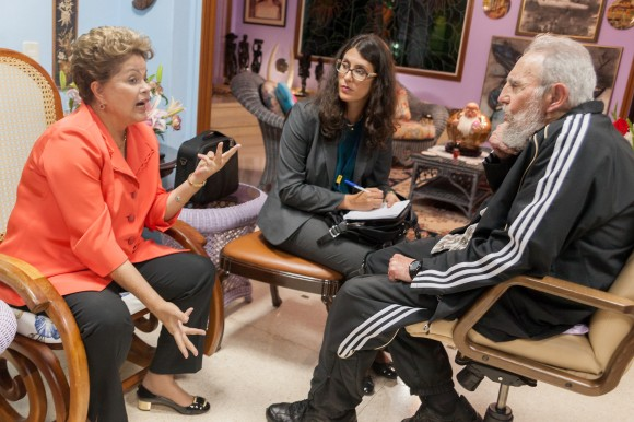 Dilma Rousseff y Fidel Celac 2