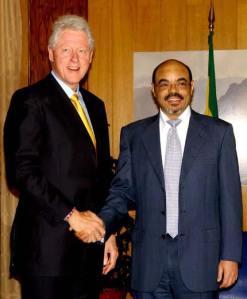 Bill Clinton and Meles Zenawi Jul2006