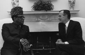 Mbutu y Bush