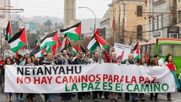 chile protest in support of palestine