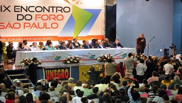 sao palo forum in bolivia 2014