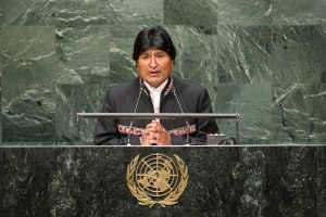 evo morales at the un 5