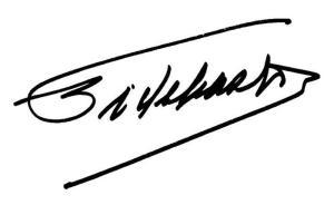 fidel's signature
