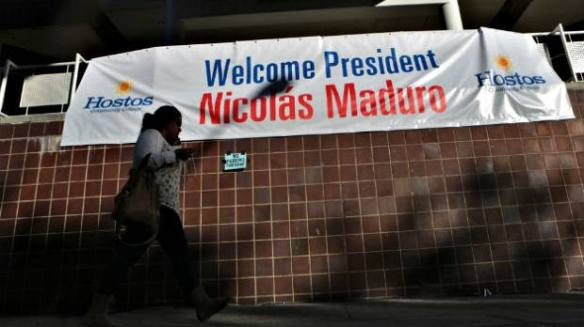maduro in the bronx hostos says welcome