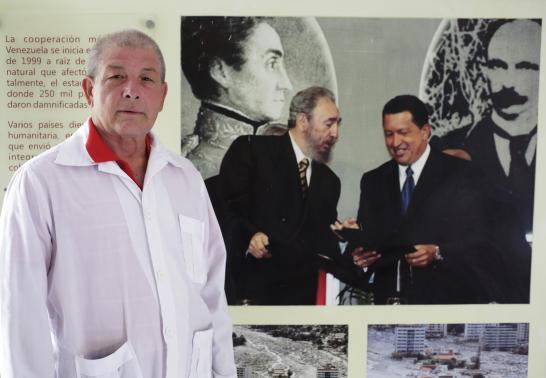 Cuban doctor Leonardo Fernandez, 63, who departs tomorrow for Liberia posses for a picture in Havana