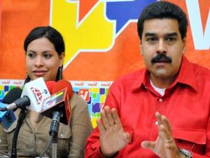 Maduro y Andreina Tarazón