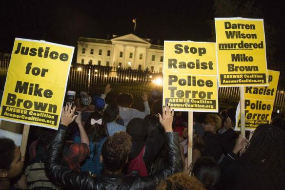 ferguson protests white house