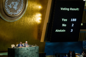 UN votes on US embargo against Cuba 2014