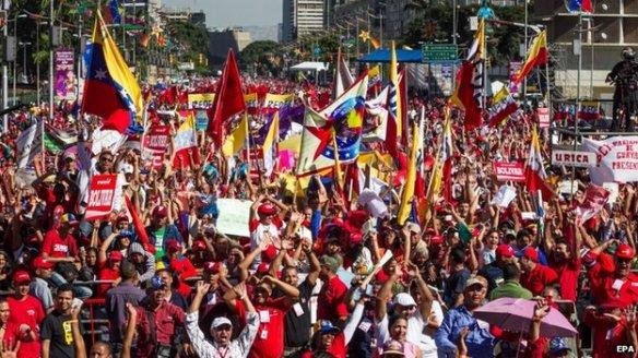 venezuelans march against sanctions
