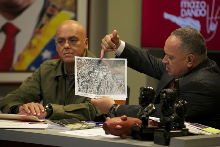 cabello showing the map