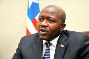 Liberian Foreign Minister Augustine Ngafuan