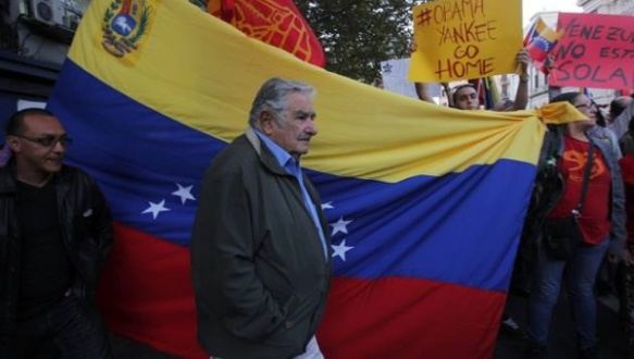 mujica leads march in support of venezuela 1