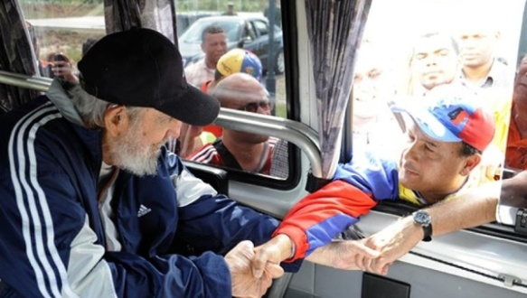 fidel in solidarity with venezuela