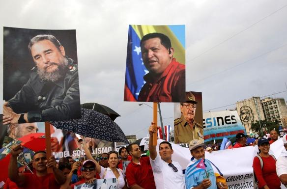 may day 2015 cuba fidel chavez y raul