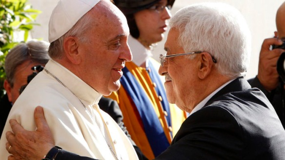 pope francis and palestinian president abbas
