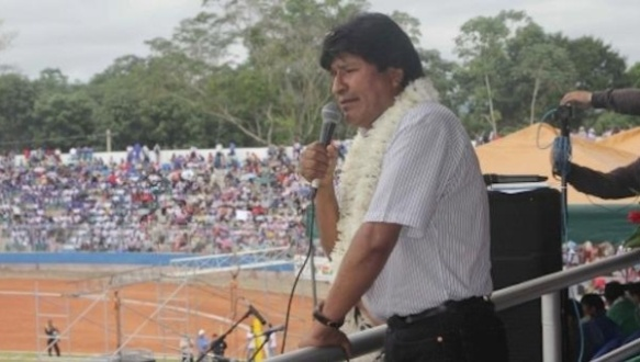 Bolivian President inaugurates new soccer stadium naming it after former Venezuelan President Hugo Chavez | Photo: ABI