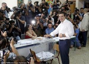 Alexis Tsipras votes