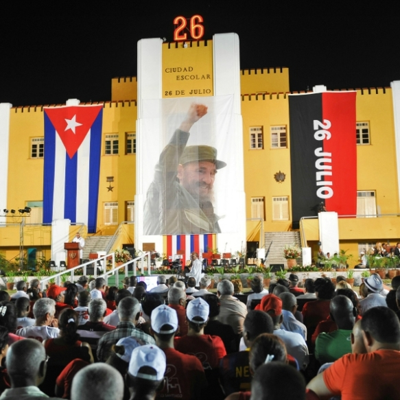 cubans celebrate july 26 2015