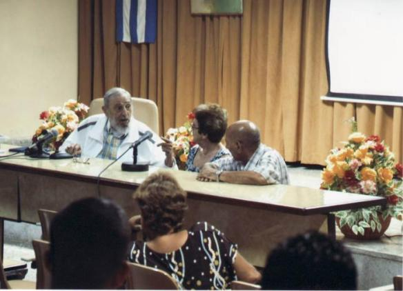 fidel visits food research centre in havana
