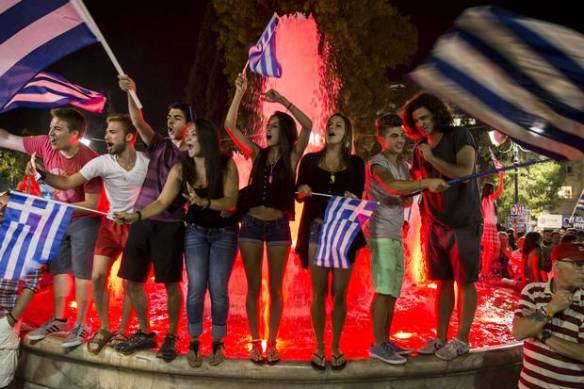 greeks celebrate referendum victory 2
