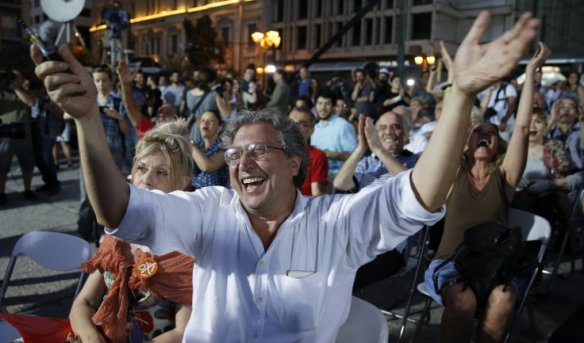 greeks celebrate referendum victory 3