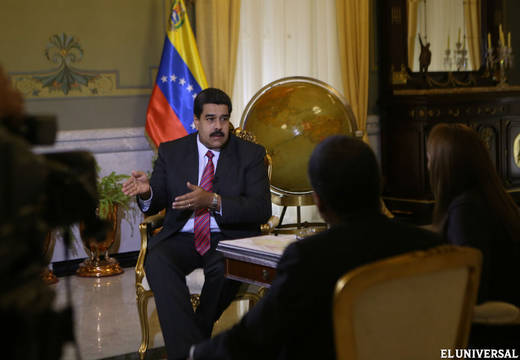 maduro being interviewed re border dispute with guyana