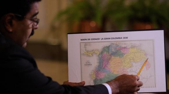 mapa la gran colombia 1830