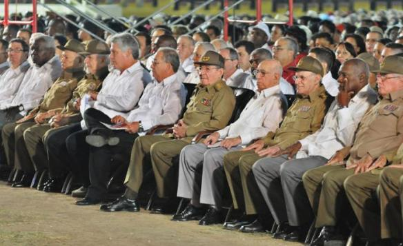 Raul and other leaders at july 26 2015 celebrations