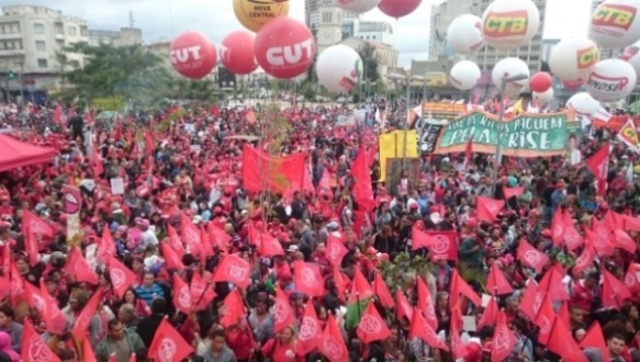 Worker unions gather in Sao Paulo, where the largest number of demonstrators was registered. | Photo: CUT
