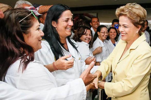 dilma y cuban doctors july 2015