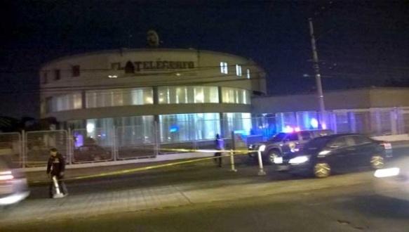 Photo outside the El Telegrafo headquarter after the bomb detonated. | Photo: El Telegrafo