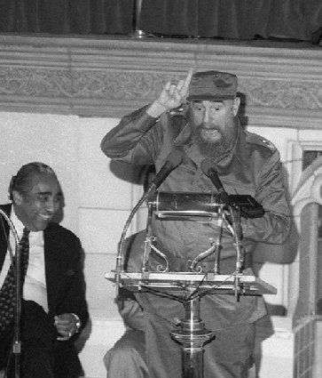 Fidel Castro and Charie Rangel