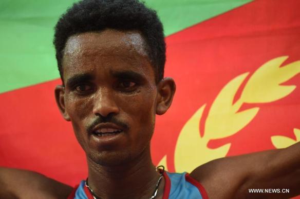 ghebreslassie wins marathon in bejing 2015