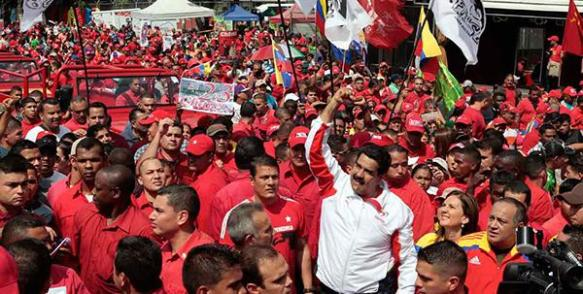 Venezuelan President Nicolás Maduro, together with Chavista forces, confronts successive destabilizing maneuvers from the internal right wing, supported by the U.S. Photo: www.eltiempo.com