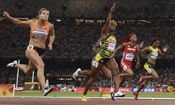 shelley ann wins 100mm in beijing 2015