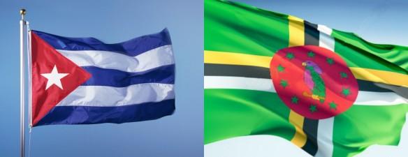 cuba dominica flags 2