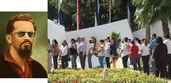 Carlos Fonseca people pay tribute