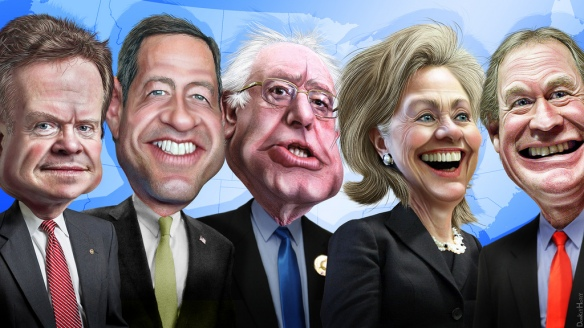 US presidential candidates 2016 cartoon