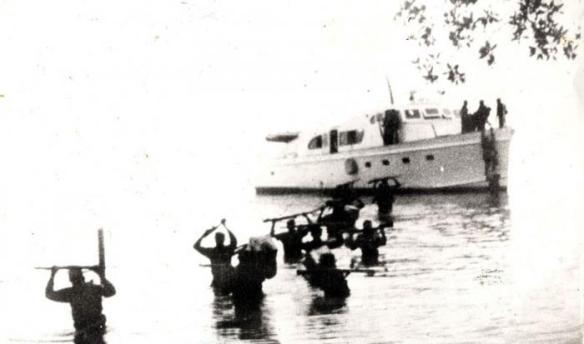 landing of the granma