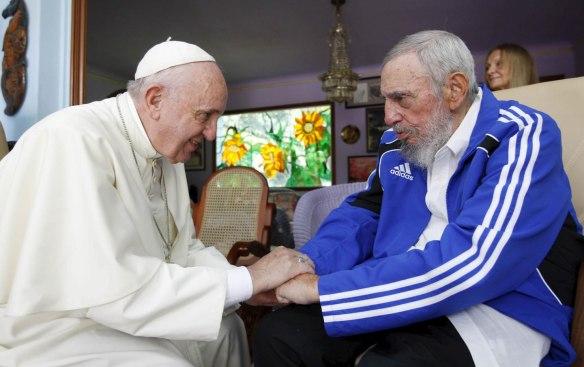 fidel y pope francis 1