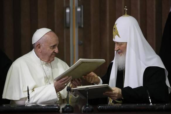 pope francis y patriarch kirill in cuba