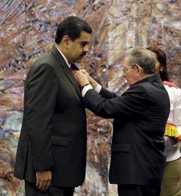 cuba honours maduro c
